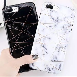 WHITE BLUE MARBLE IPHONE 7 8 PLUS CASE NEW